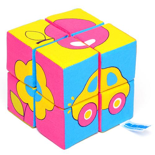 Кубики мягкие: Собери картинку. Предметы - Мякиши