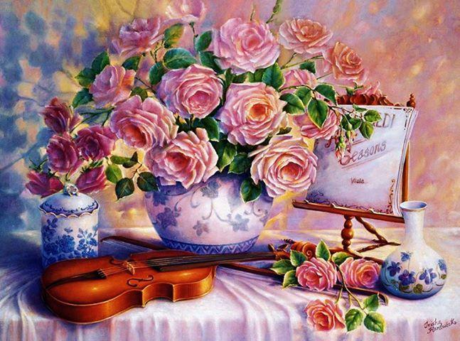 Пазл: Вечерние розы, 3000 элементов - Castorland