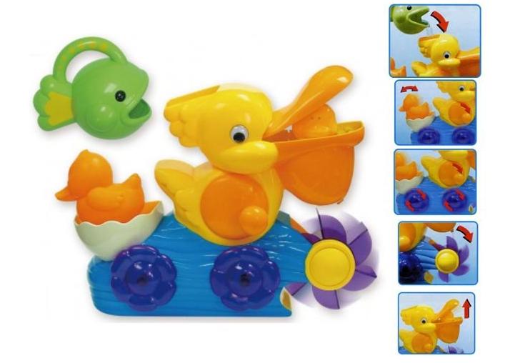 Игрушка для купания: Пеликан развивающий - Silverlit