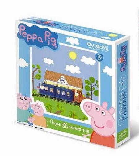 Пазл Свинка Пеппа: Паровозик, 36 элементов