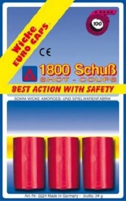 Пистоны 100-зарядные ленточные, 1800 штук в упаковке - Wicke