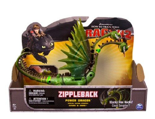 Dragons: Боевой дракон Гибкие шеи Пристеголова Zippleback - Spin Master
