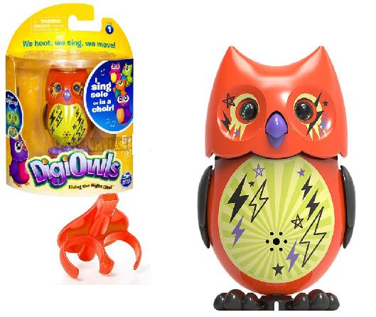 DigiOwls: Поющая сова с кольцом, оранжевая - Silverlit