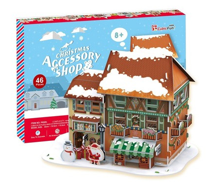 3D пазл: Рождественский домик 4, с подсветкой – CubicFun