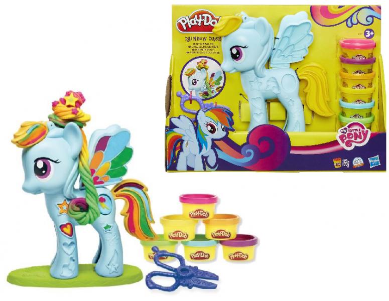 Play Doh: Игровой набор Пони - Стильный салон Рэйнбоу Дэш