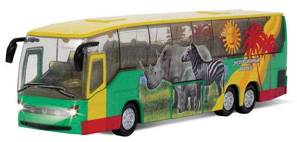Автобус металлический (открыв.двери,свет+звук) - Технопарк