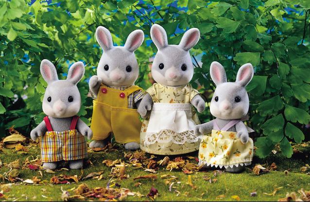 Набор Sylvanian Families: Семья Серых кроликов