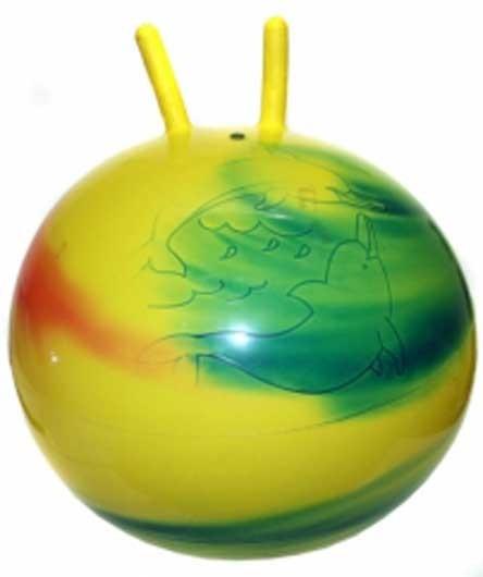 Мяч-прыгун радужный с рогами 45см - Stantoma