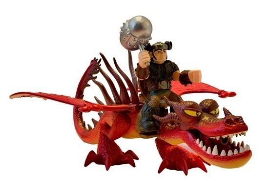 Dragons: Игровой набор Дракон и всадник. Сморкало и Кривоклык - Spin Master