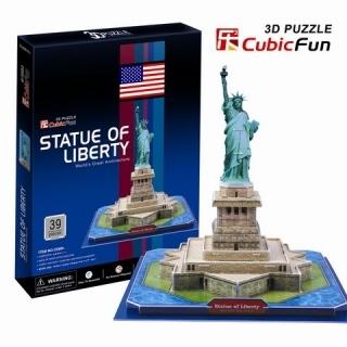 3D пазл: Статуя Свободы, средний - CubicFun