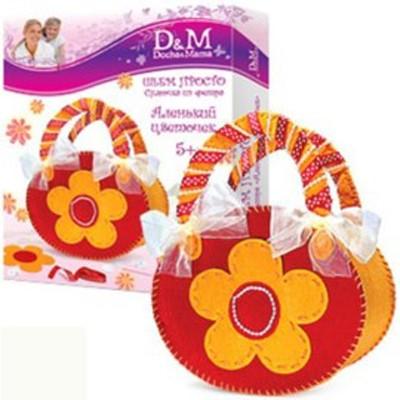 Набор шьем сумочку: Аленький цветочек - Делай с мамой