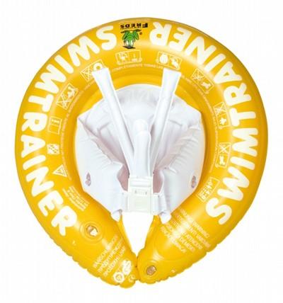 Надувной Круг Свимтренер Классик (жёлтый) для детей от 4 до 8 лет - Fred Swim academy