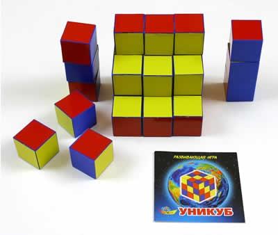 Кубики Уникуб (пластик) - Корвет