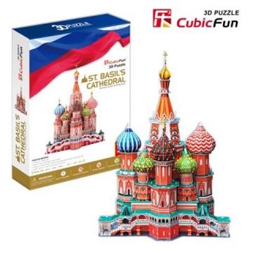 3D пазл: Собор Василия Блаженного, огромный пазл - CubicFun