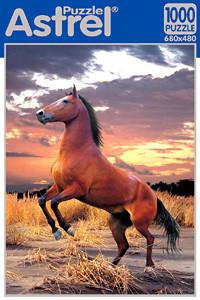 Пазл: Конь на закате, 1000 элементов – Astrel