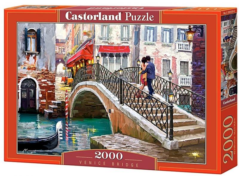 Пазл: Мост, Венеция, 2000 элементов – Castorland