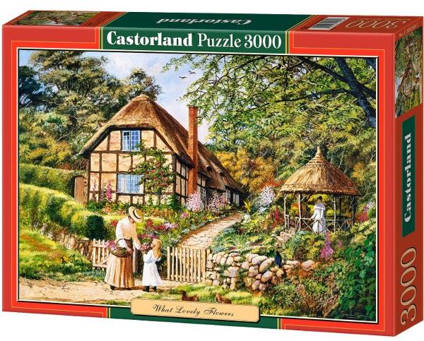 Пазл: Прекрасные цветы, 3000 элементов – Castorland