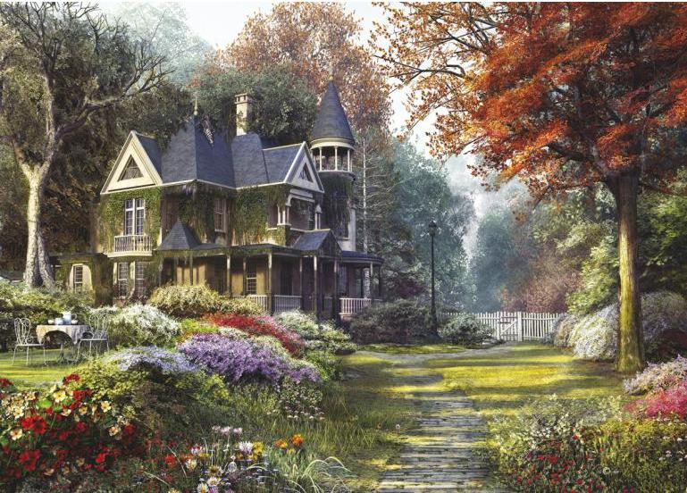Пазл: Викторианский сад, 1000 элементов – Clementoni
