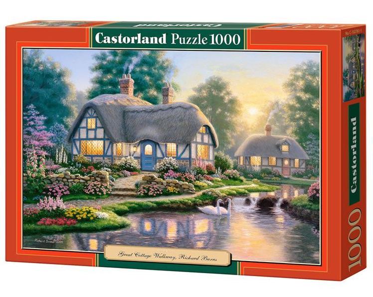 Пазл: Большой коттедж, 1000 элементов – Castorland