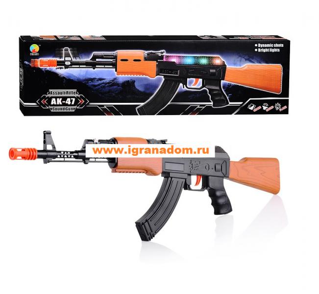 Игрушечный Автомат АК-47, свет и звук