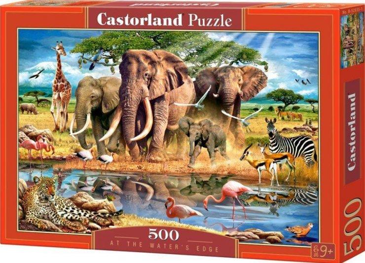Пазл: На краю воды, 500 элементов – Castorland