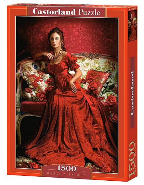 Пазл: Девушка в красном, 1500 элементов – Castorland