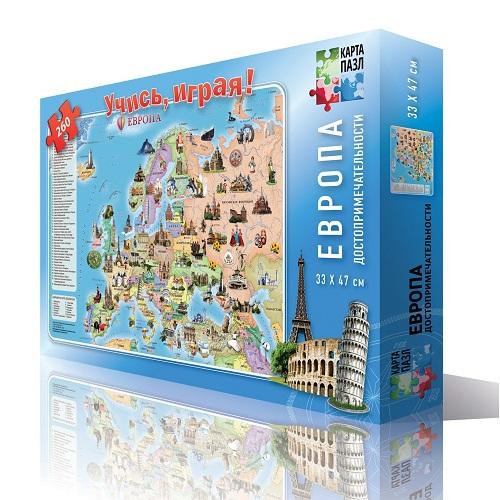 Пазл: Географ. Европа. Достопримечательности, 260 элементов
