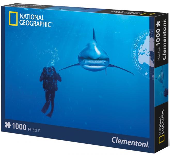 Пазл: National Geographic. Дайвинг в Карибском море, 1000 деталей - Clementoni