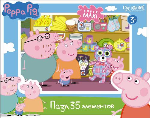 Пазл макси: Свинка Пеппа, Магазин Игрушек, 35 элементов – Origami Puzzle