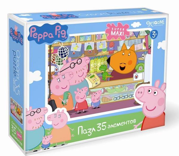 Пазл макси: Свинка Пеппа, Сувенирная лавка, 35 элементов – Origami Puzzle