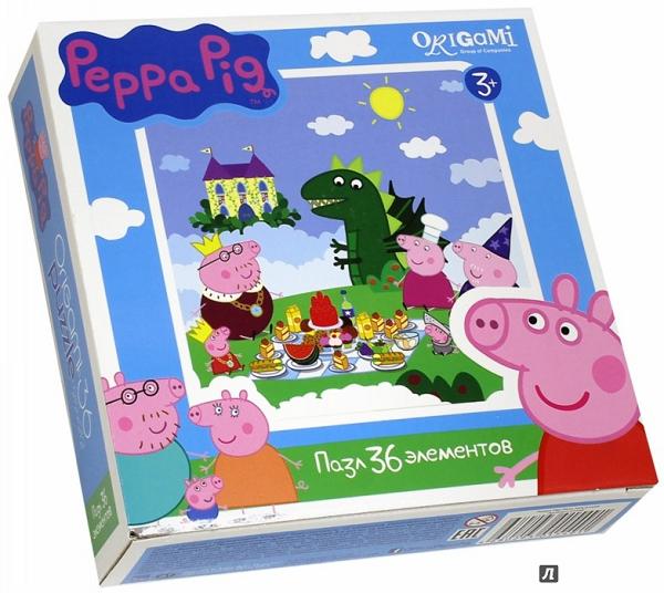 Пазл: Свинка Пеппа. Пикник, 36 элементов – Origami Puzzle