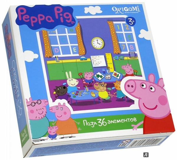 Пазл: Свинка Пеппа. Детский сад, 36 элементов – Origami Puzzle