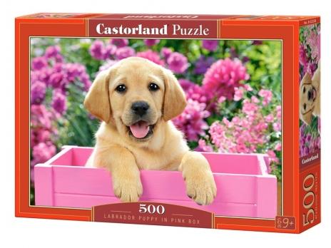 Пазл: Щенок в коробе, 500 элементов - Castorland