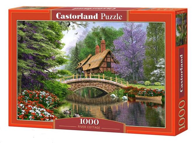 Пазл: Дом у реки, 1000 элементов – Castorland