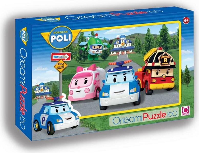 Пазл: Робокар Мэрия, 160 элементов – Origami Puzzle