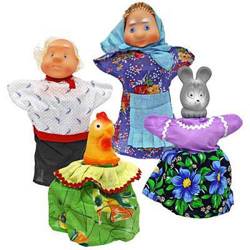 Кукольный театр: Курочка Ряба, в пакете – Русский стиль