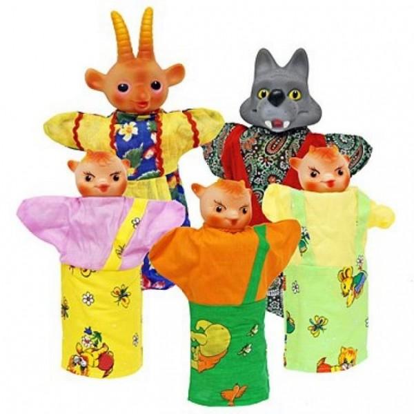 Кукольный театр Козлята и волк (в пакете) – Русский стиль
