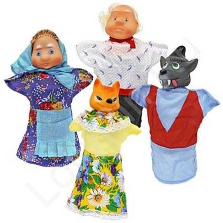 Кукольный театр: Волк и Лиса, в пакете - Русский стиль