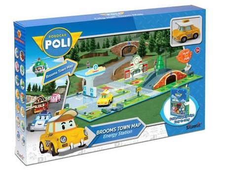 Робокар Поли: Набор Город Заправка с мостом, с машинкой Кэп - Silverlit