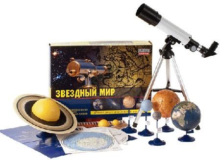 Набор с телескопом: Звездный мир - Научные Развлечения